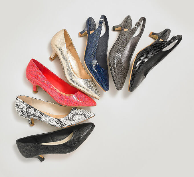 A selection of heels