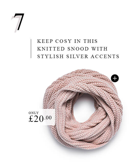 Pink Knotted Snood