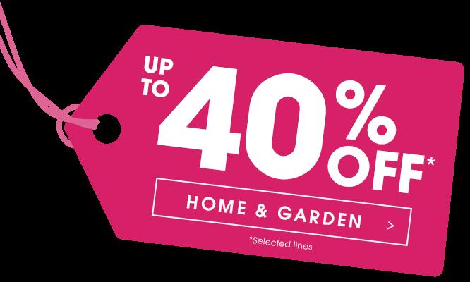 40% Off Home & Garden