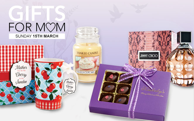 Gifts for Mum - Mother's Day on Sunday 15th March
