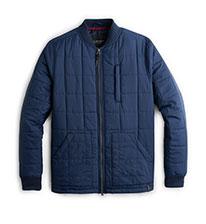 Shop Blue Padded Jacket