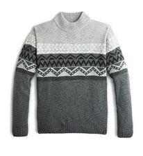 Grey Pattern Sweater