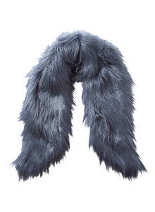 Steel Blue Faux Fur Stole