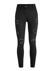 Zoe Distressed Super Skinny Jeans