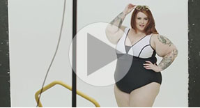 Behind the scenes with Tess Holliday
