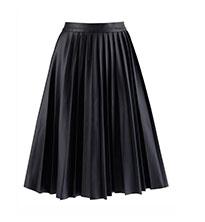 Lace PU Skirt