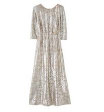 Foil Print Maxi Dress