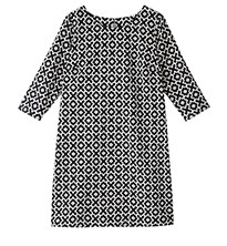 Print 3/4 Sleeve Dress