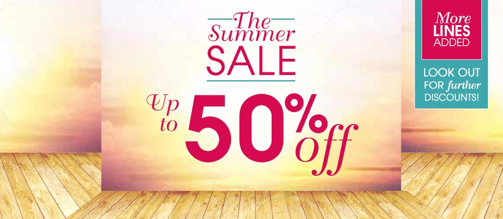 The Summer Sale up to 50% off