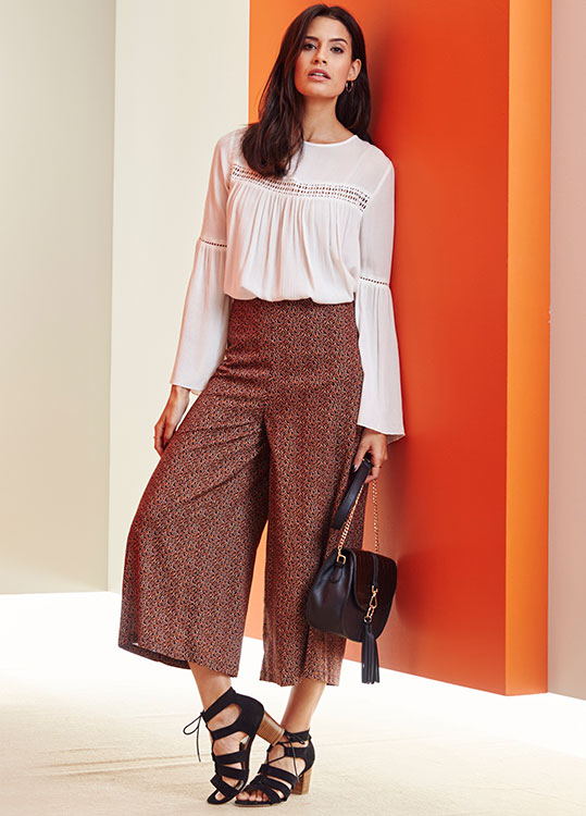 Bohemian Summer blouse and culottes