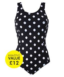 Black Spotted Simply Yours Swimsuit