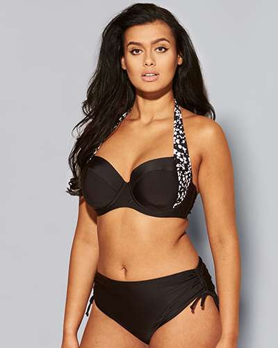 Black and White strap bikini