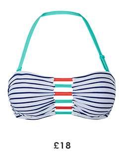 Bikini Top - Island Strip £18e