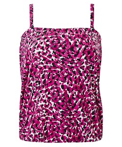 Tankini Top - Pink, White and Black
