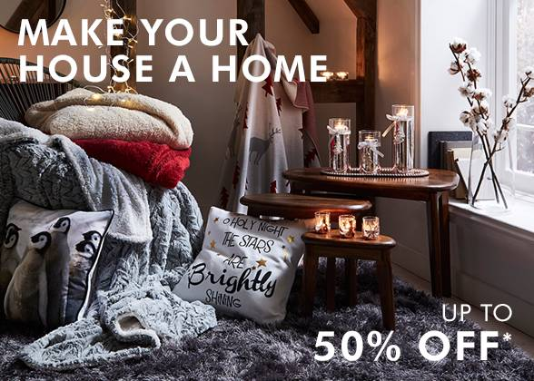 Up to 50% off home and decor