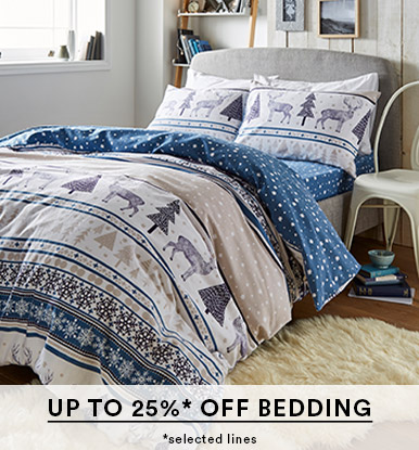 Up to 25%* off Bedding