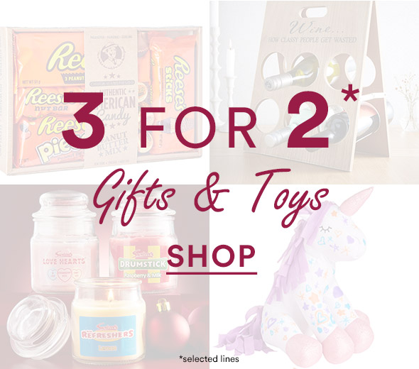 3 for 2 Gifts and Toys