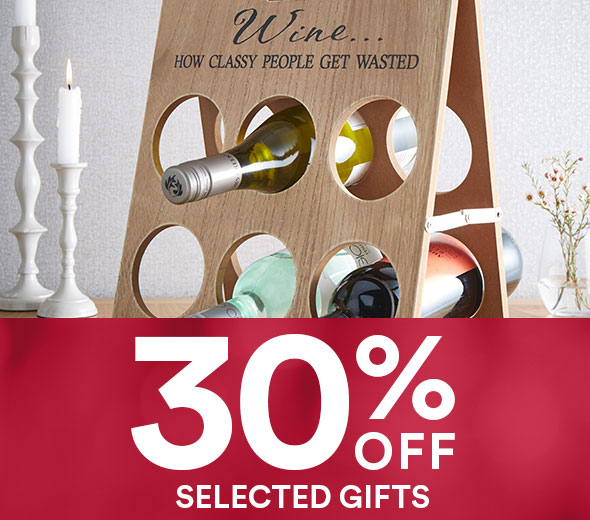 30% off selected gifts