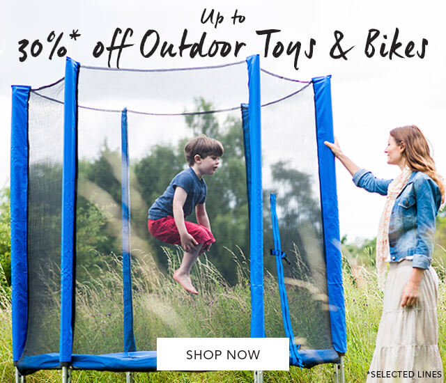Up to 30%* off Outdoor Toys & Bikes