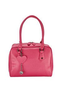 Lola Cranberry Bowler Bag
