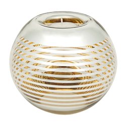 Gold Hoop Round Tealight Bowl