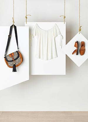 Tassel Bag, White Top & Sandals