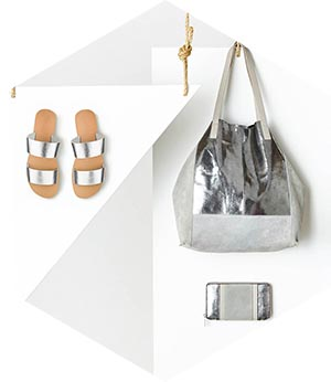 Silver Bag & Silver Sandals