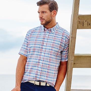 Short Sleeved Checked Shirt