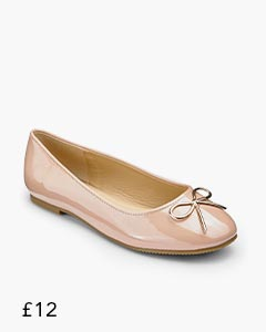 Heavenly Soles Bow Ballerinas Standard D Fit