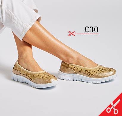 Cushion Walk Leisure Slip On Shoes Wide E Fit