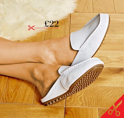 Heavenly Soles Leather Closed Toe Mules Wide E Fit