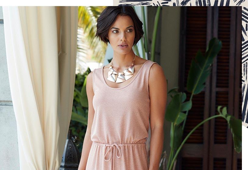 Jersey Glitter Maxi Dress
