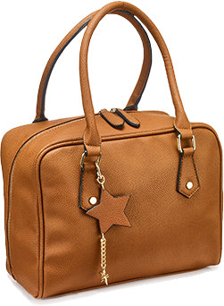 Tan Lola Bowler Bag