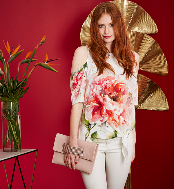 Floral-Print-Blouse