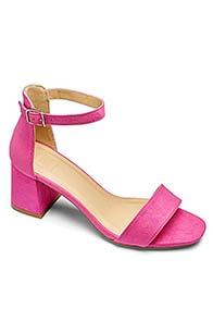 Block Heel Sandals (Pink)