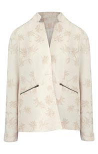 Palm Print Linen Blazer