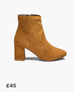 HEAVENLY SOLES LEATHER ANKLE BOOTS STANDARD D FIT