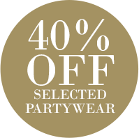 40% Off selected Partywear