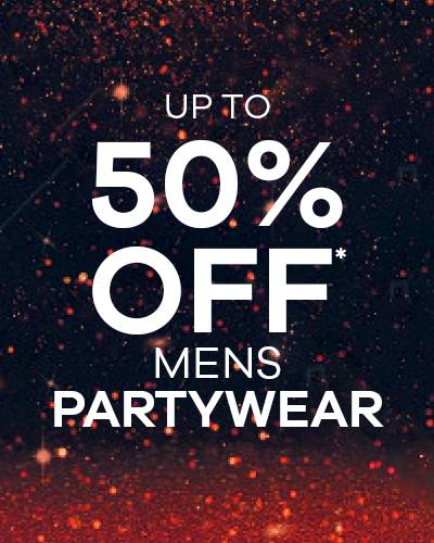 up to 50% Off Mens Partywear