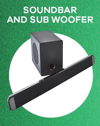 Soundbar and sub woofer