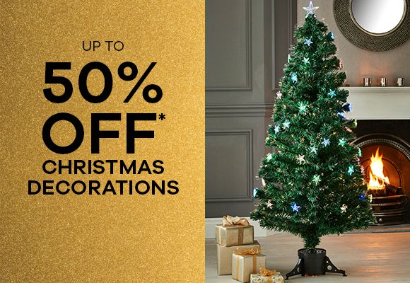 up to 50% off Christmas Decorations