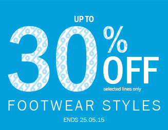 Up to 30% off Footwear Styles