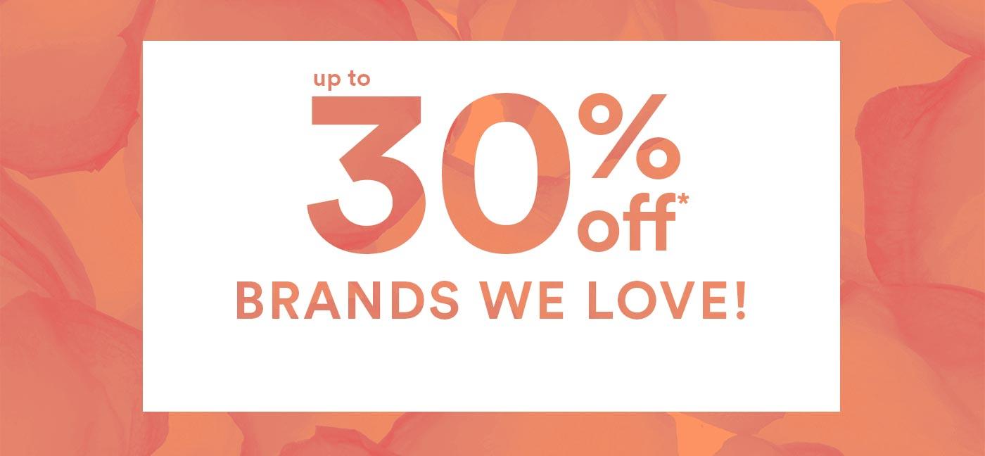 30% off Brands
