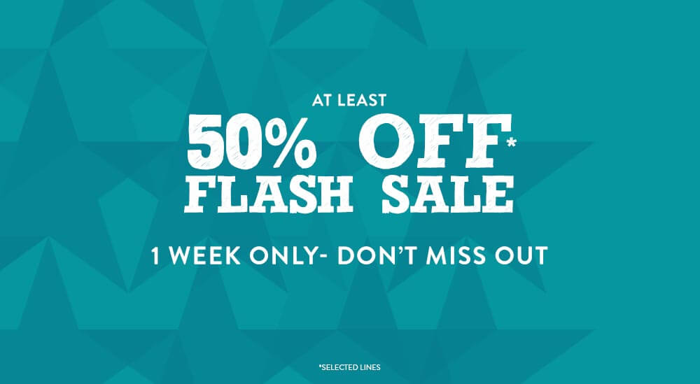 50% Off Flash Sale - 1 Week Only
