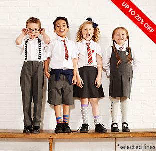 Up to 20% off School Wear