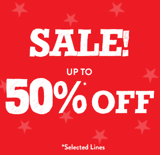 Sale Up to 50%* off