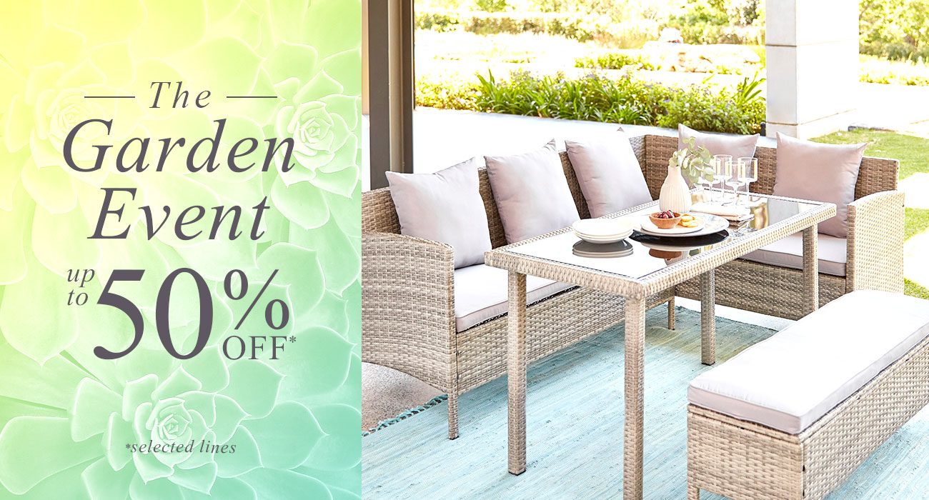 The Garden Event - Up to 50% Off *selected lines »