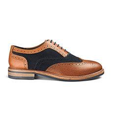Premium Mixed Leather Brogue