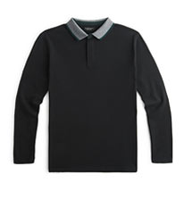 Black Long Sleeved Polo