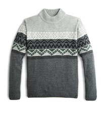 Grey Pattern Sweater
